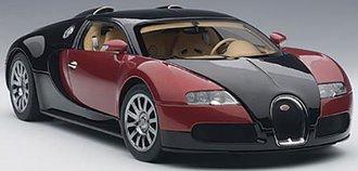 Bugatti EB 16.4 Veyron Production Car (Black/Red w/Beige Interior)