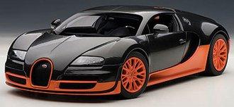 Bugatti Veyron Super Sport (Carbon Black/ with Orange Side Skirts)