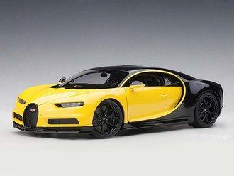 2017 Bugatti Chiron (Juane Molsheim Yellow/Nocturne Black)