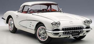 1958 Corvette (Snowcrest White)