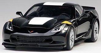 1:18 Chevrolet Corvette Grand Sport (Black/White Stripes/Yellow Fender Hash Marks)