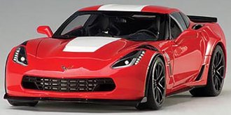 1:18 Chevrolet Corvette Grand Sport (Red/White Stripes/Black Fender Hash Marks)