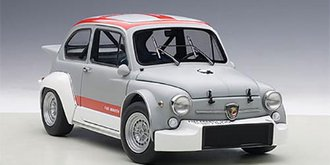 Fiat Abarth 1000 TCR, (Matte Grey/Red Stripes)