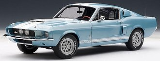 1:18 1967 Shelby Mustang GT500 (Blue w/White Stripes)