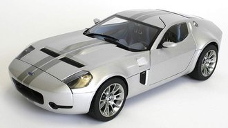 1:18 Ford Shelby GR-1 Concept (Silver Metallic/Tungsten Grey Metallic Stripes)