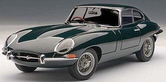 1:18 Jaguar E-Type Coupe Series I 3.8, w/Metal Wire-Spoke Wheels (Green)