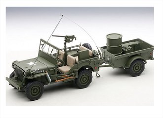 Jeep Willys w/Trailer & Accessories (Green)