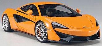 McLaren 570S (McLaren Orange w/Silver Wheels)