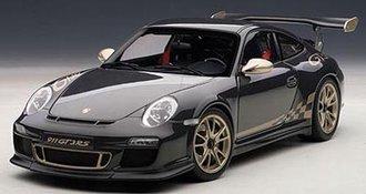 Porsche 911 (997) GT3 RS, Grey Black w/White Gold Metallic Stripes