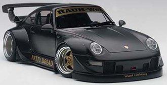 RWB Porsche 993, (Matt Black/Gold Wheels)