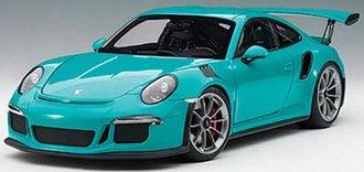 Porsche 911 (991) GT3 RS (Miami Blue w/Dark Grey Wheels)
