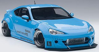 Rocket Bunny Toyota 86 (Metallic Sky Blue/Black Wheels)