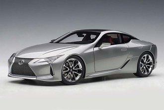 Lexus LC 500 (Sonic Titanium Metallic/Dark Rose Interior)