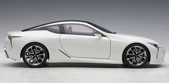 Lexus LC 500 F (White Metallic w/Dark Rose Interior)