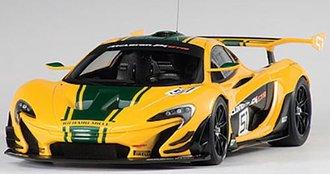 2015 McLaren P1 GTR, #51 Geneva Motor Show 2015 (Yellow/Green Stripes)