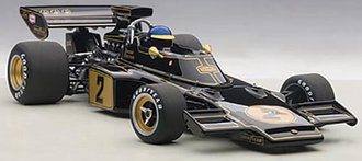 1973 Lotus 72E Ronnie Peterson #2, w/Driver Figurine in Cockpit, Composite
