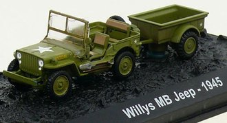 1:72 Willys MB Jeep with Bantam T3 Trailer - 2nd Battalion, 14th Marine Division, USMC, Iwo Jima