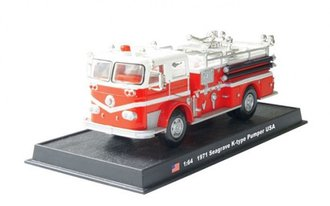 1:64 1971 Seagrave K-Type Pumper (Red/White)