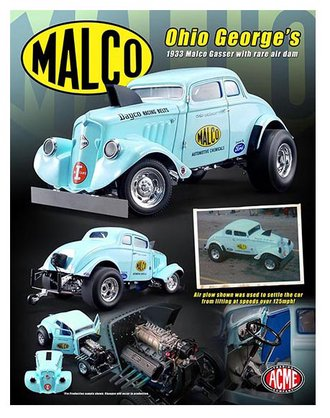 1:18 Ohio George's 1933 Malco Gasser w/Rare Air Dam