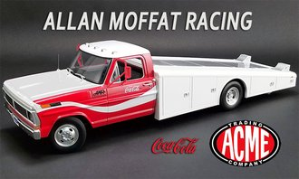 "1:18 1970 Ford F-350 Ramp Truck ""Allan Moffat Racing - Coca-Cola"" (Red/White)"