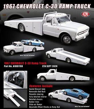 1:18 1967 Chevrolet C-30 Ramp Truck (White)