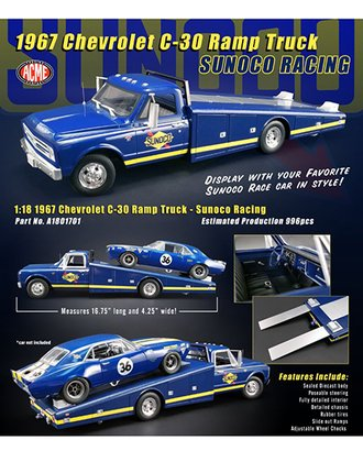 "1:18 1967 Chevrolet C-30 Ramp Truck ""Sunoco Racing"""