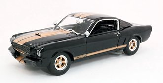 1:18 1966 Shelby GT350H (Black w/Gold Stripe)