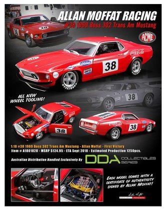 "1:18 1969 Boss 302 Trans Am Ford Mustang ""Allan Moffat #38 - First Victory"""
