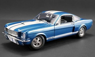 1:18 1966 Shelby GT350 Supercharged (Blue w/White Stripes)