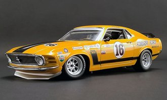 """1:18 1970 Ford Boss 302 Trans Am Mustang """"Foulger Ford #16 George Follmer"""""""