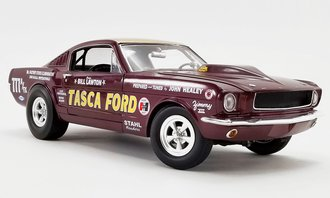 """1:18 1965 Ford Mustang A/FX """"Tasca Ford"""" (Maroon)"""