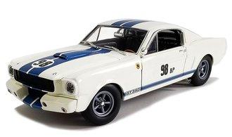"1:18 1965 Shelby GT350R Prototype ""The Flying Mule Ken Miles"" (White w/Blue Stripes)"