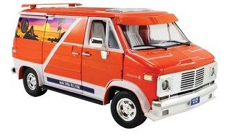 "1:18 1976 Chevrolet G-Series Van ""Good Times Machine"" (Orange w/Mural)"