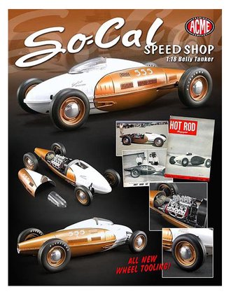 "1:18 Belly Tanker ""So-Cal Speed Shop"" (Gold/White)"