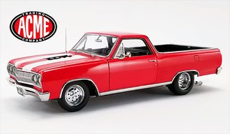 "1:18 1965 Chevrolet El Camino ""Drag Outlaws"" (Red w/White Stripes)"