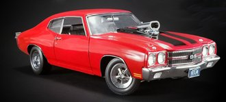 "1:18 1970 Chevrolet Chevelle ""Drag Outlaws"" (Red w/ Black Stripes)"