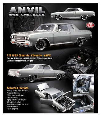 "1:18 1965 Chevrolet Chevelle ""Anvil"""