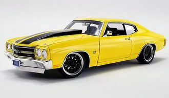 "1:18 1970 Chevrolet Chevelle SS ""Street Fighter"" (Yellow)"