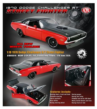 1:18 1970 Dodge Challenger R/T (High Impact Color)