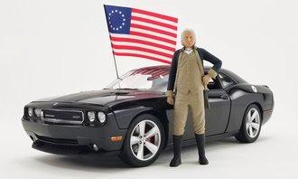 1:18 2010 Dodge Challenger SRT8 w/George Washington Figure