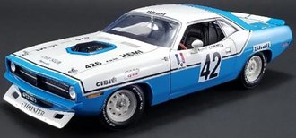 1:18 1970 Plymouth Trans Am Cuda - #42 Henri Chemin - Chrysler of France