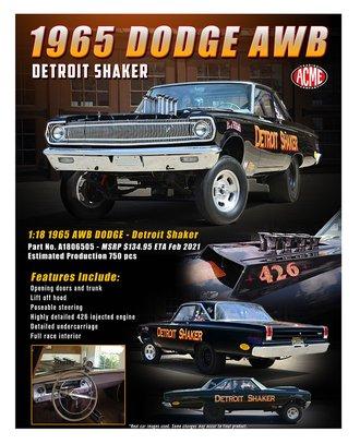 """1:18 1965 Dodge Coronet w/Altered Wheelbase """"Detroit Shaker"""""""