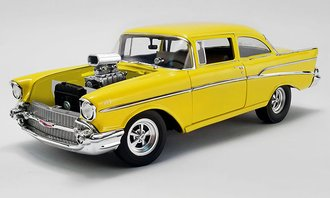 """1:18 1957 Chevrolet 210 """"Hollywood Knights Tribute Edition"""" (Yellow)"""