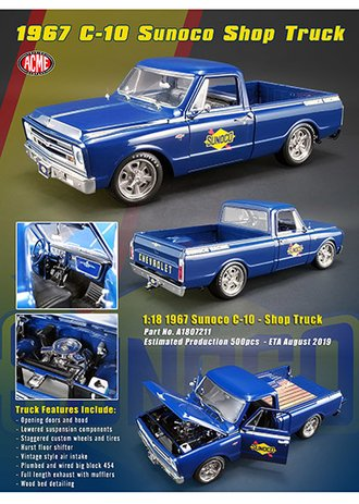 "1:18 1967 Chevrolet C10 ""Sunoco Racing Shop Truck"""