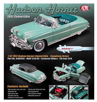 1:18 1952 Hudson Hornet Convertible (Symphony Green)