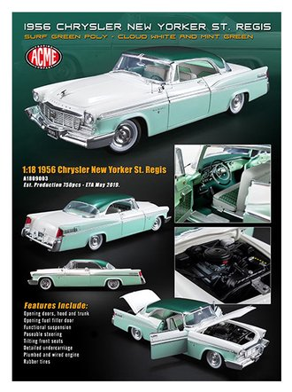 1:18 1956 Chrysler New Yorker St. Regis (Surf Green Poly/Cloud White/Mint Green)