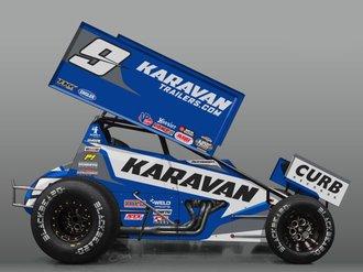 "1:18 2021 Sprint Car ""#9 Karavan Trailers - James McFadden"""
