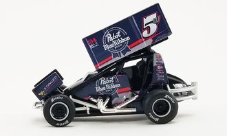 """1:64 2021 Sprint Car """"#5w Pabst Blue Ribbon Beer - Lucas Wolfe"""""""