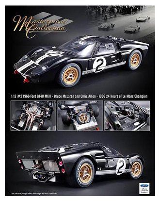 "1:12 1966 Ford GT40 MKII - 1966 24 Hours of Le Mans Champion ""Bruce McLaren & Chris Amon"""
