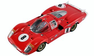 "1:18 Le Mans (Movie) Ferrari 512S Longtail ""#8"" (Red)"